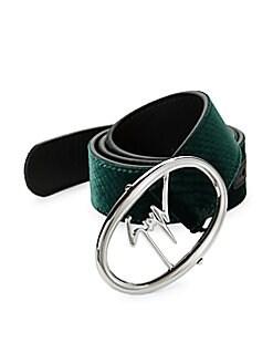 3ea08901e57 Product image. QUICK VIEW. Giuseppe Zanotti. Logo Velvet   Leather Belt
