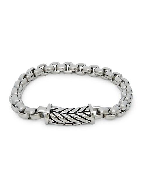 Stainless Steel Herringbone Chain Bracelet