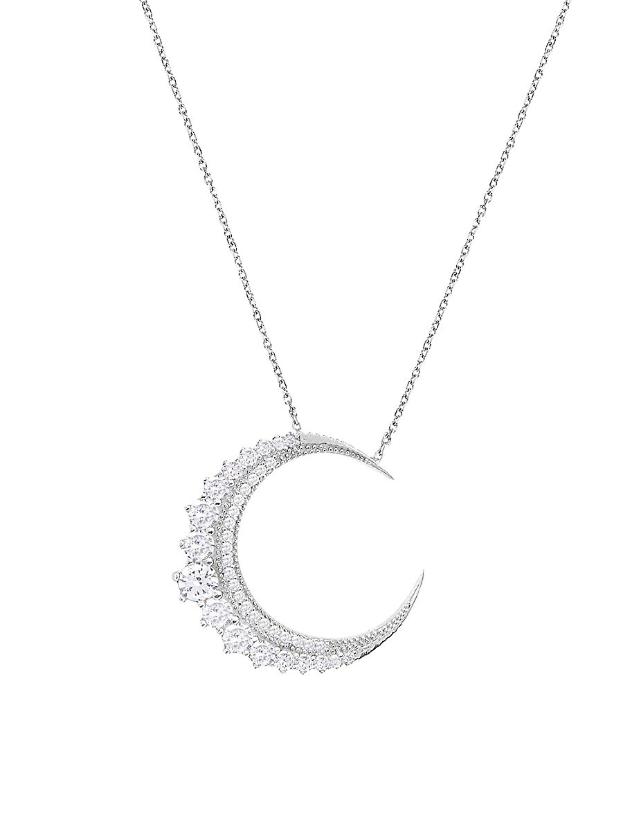 Women's Moonlight 925 Sterling Silver & Crystal Pendant Necklace