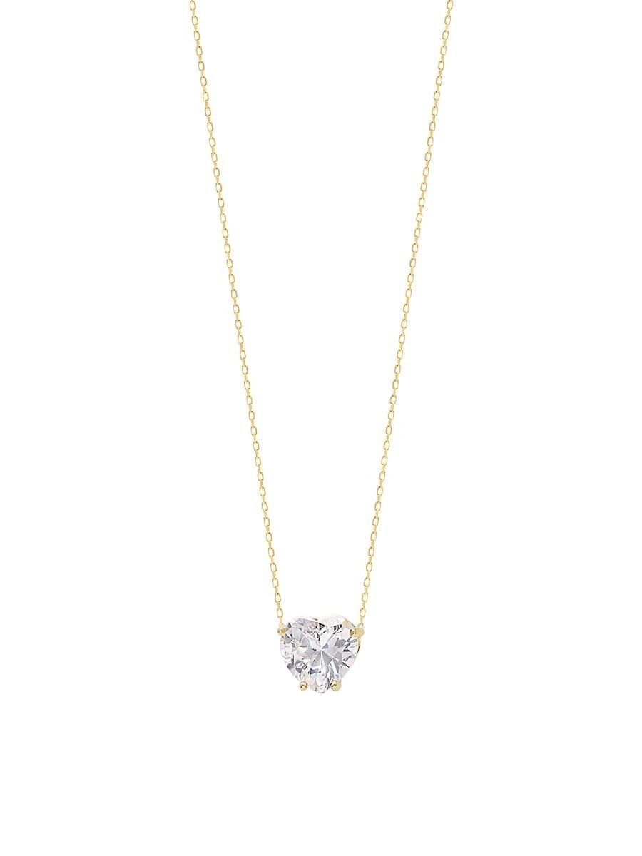 Women's Celebrate Love Cubic Zirconia & Crystal Heart Necklace