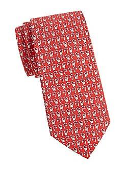 d87c8356fd87 QUICK VIEW. Salvatore Ferragamo. Animal-Print Silk Tie