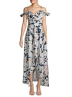 6bd3411d652a QUICK VIEW. Alexia Admor. Ruffled Cold-Shoulder Floral Maxi Dress