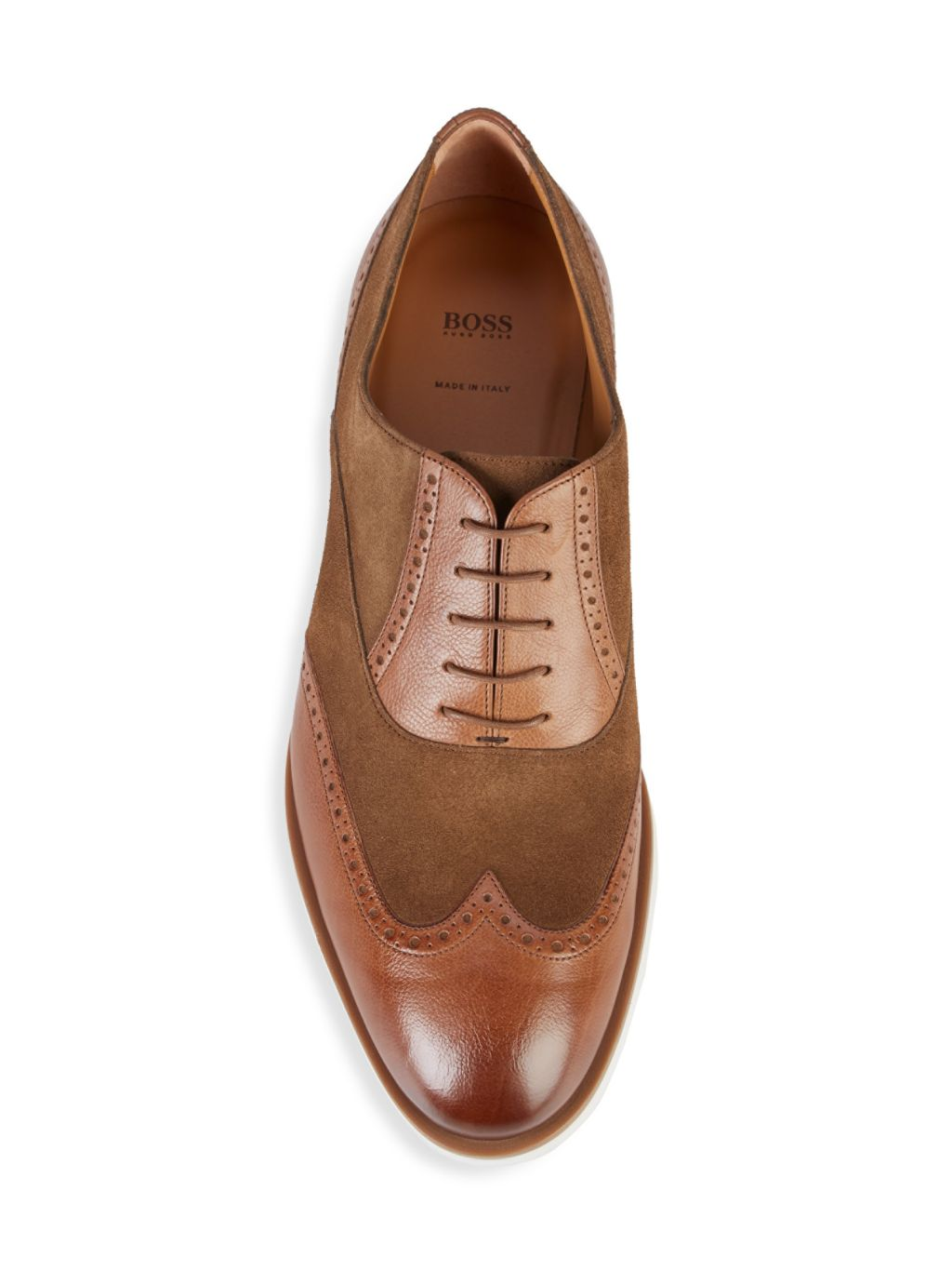 Boss Hugo Boss Eden Suede & Leather Derbies