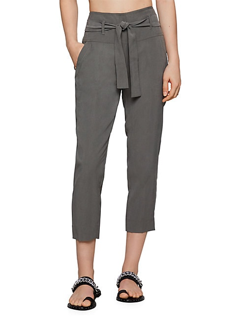 BCBGENERATION | Belted Cropped Pants | Goxip