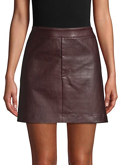 3b2a14e60 Helmut Lang Leather Mini Skirt ...