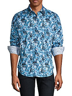 c01eccb2 QUICK VIEW. Robert Graham. Printed Cotton Button-Down Shirt