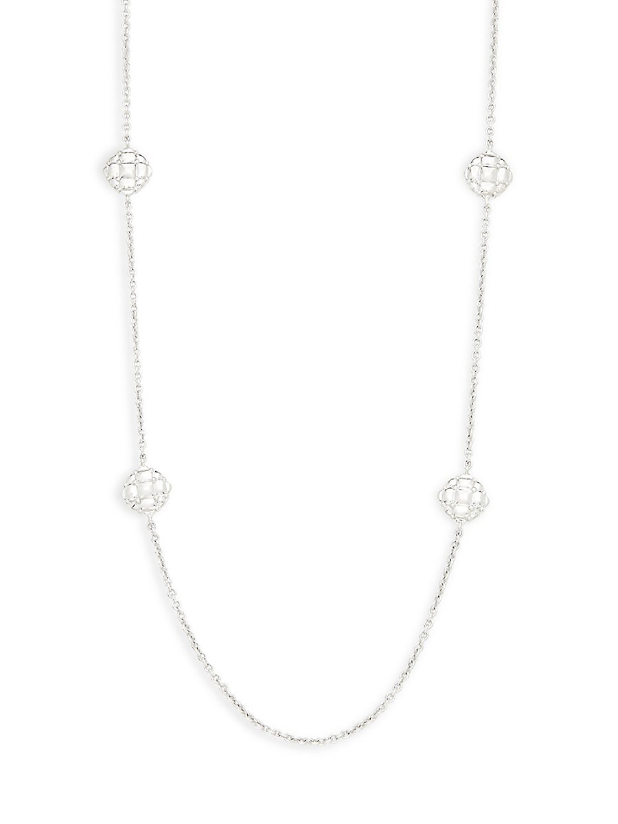 Women's Sterling Silver Station Necklace