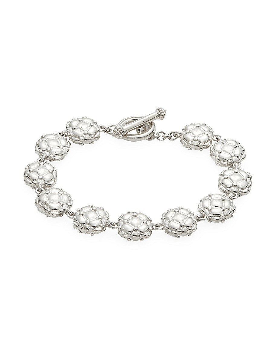 Women's Sterling Silver Textured Link Bracelet