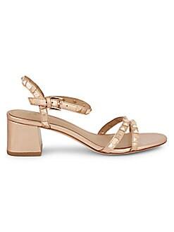 7c2571bd83 QUICK VIEW. Ash. Iggy Studded Metallic-Leather Block Heel Sandals