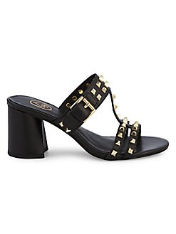 9ed6bda43e QUICK VIEW. Ash. June Studded Leather Block-Heel Slides