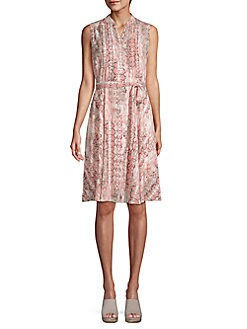 7f68de752ca4 NANETTE nanette lepore. Pleated Snake-Print Dress