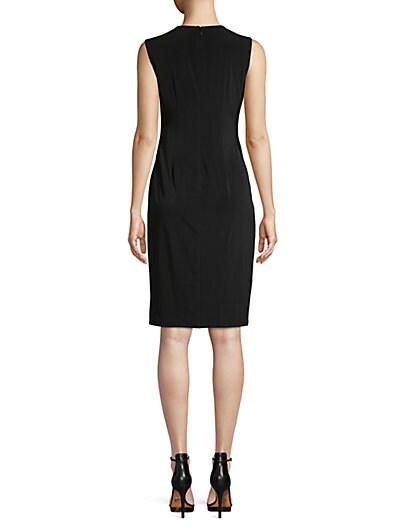 daabccdd ... Calvin Klein Ruched Button Sheath Dress