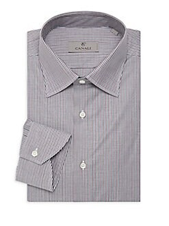 b8ffdef28 Modern-Fit Striped Dress Shirt BLACK. QUICK VIEW. Product image