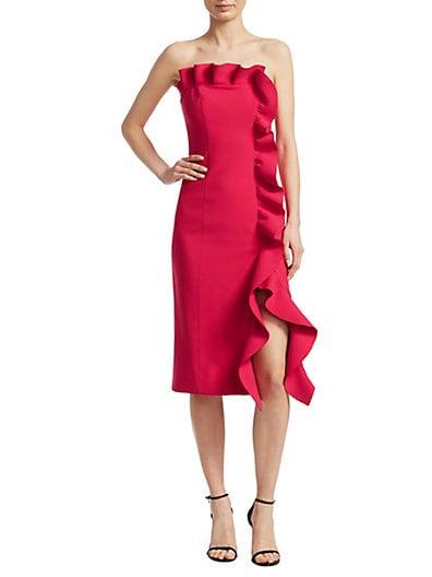 9f95fc1cf1f Cinq à Sept Selma Strapless Ruffled Sheath Dress ...