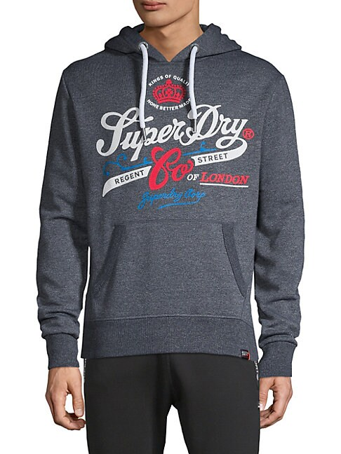 SUPERDRY   Graphic Cotton Blend Hoodie   Goxip