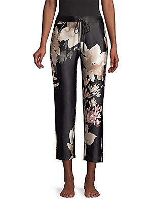 Josie Natori Deco Silk Pants by Natori