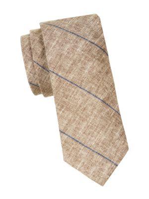 Brunello Cucinelli Ties Diagonal Striped Slim Tie