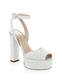 3f06ca8da6f7 QUICK VIEW. Giuseppe Zanotti. Lavinia Glitter Leather Platform Sandals