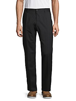 9332d69d3a2e86 Wool Blend Flat Front Pants BLACK. QUICK VIEW. Product image