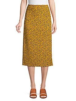 342f6f0d32fe Pure Navy. Leopard-Print Pencil Skirt