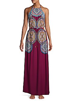 352d3c5fbad Product image. QUICK VIEW. Red Carter Swim. Printed Halterneck Maxi Dress