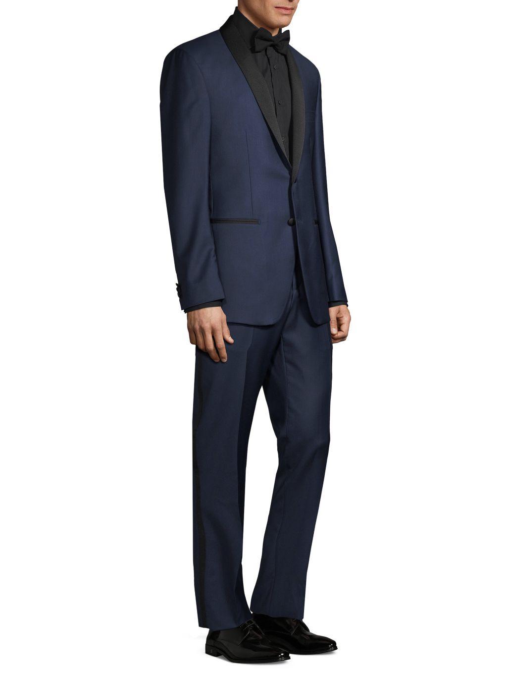 Saks Fifth Avenue Made in Italy Modern-Fit Formal Wool Tuxedo