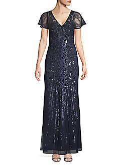 5bb02f91233 QUICK VIEW. Aidan Mattox. Embellished V-Neck Gown