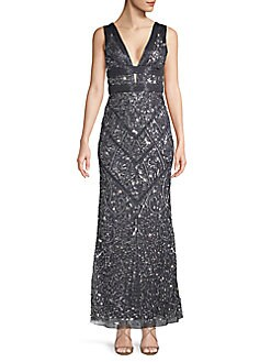 5b435a752ba QUICK VIEW. Aidan Mattox. Embellished Plunging Gown