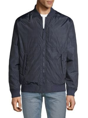 Saks Fifth Avenue Reversible Down-filled Bomber Jacket In Navy