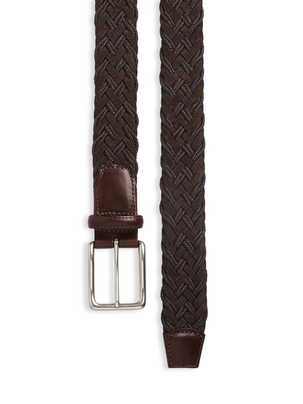 Saks Fifth Avenue COLLECTION Braided Suede & Cotton Belt