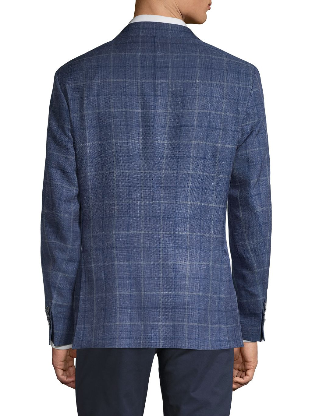 Saks Fifth Avenue Made in Italy Classic-Fit Windowpane Check Sport Jacket