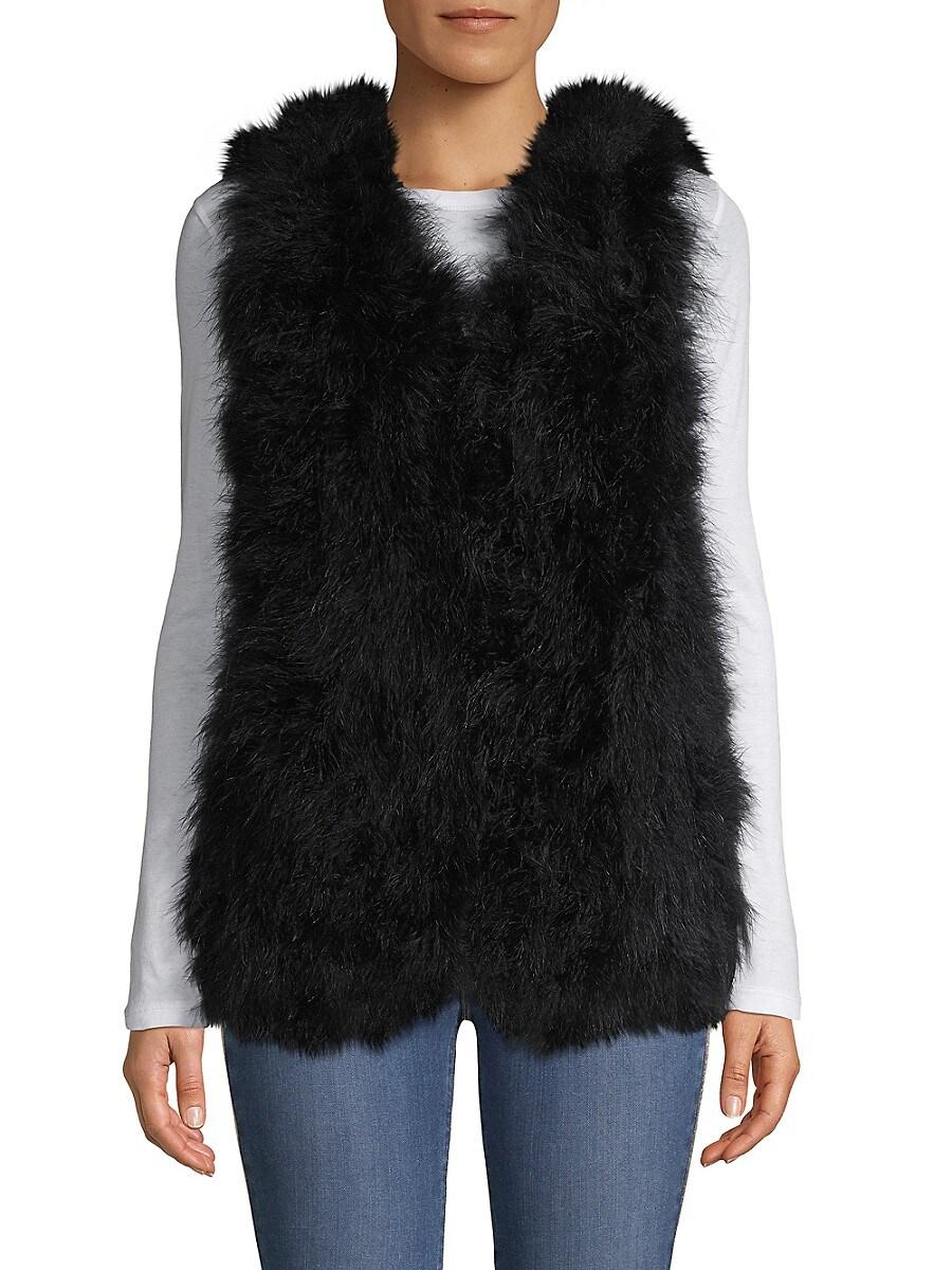 Women's Ostrich Feather Vest