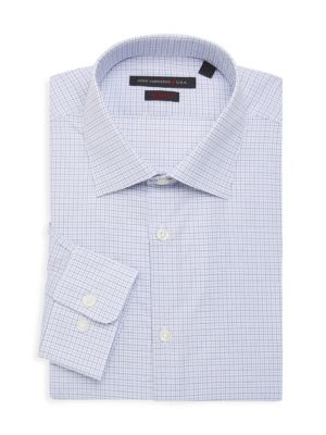 John Varvatos Dresses Regular-Fit Plaid Dress Shirt