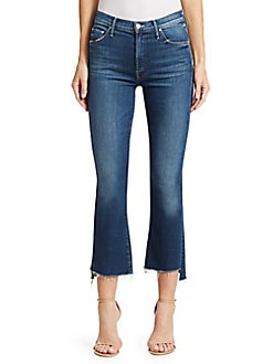 00f148614dd QUICK VIEW. MOTHER. Insider Crop High-Rise Frayed Step Hem Jeans