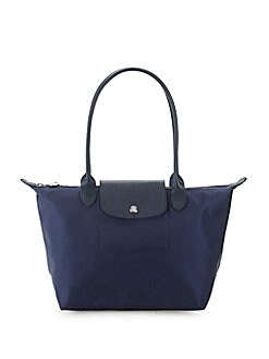 dc863c370 QUICK VIEW. Longchamp. Leather Trim Nylon Tote Bag