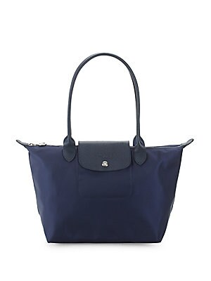 Leather Trim Nylon Tote Bag by Longchamp