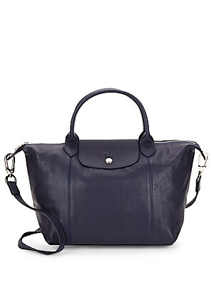Le Pliage Leather Tote by Longchamp