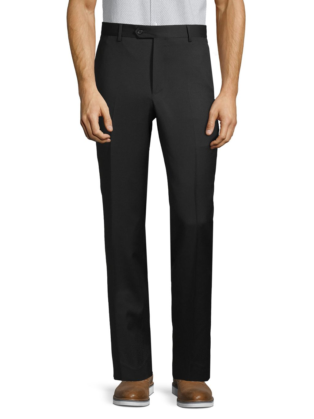 Saks Fifth Avenue Made in Italy Wool Flat-Front Pants