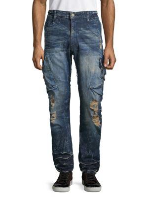 Robin's Jean Predator Cargo Jeans In Dark Blue