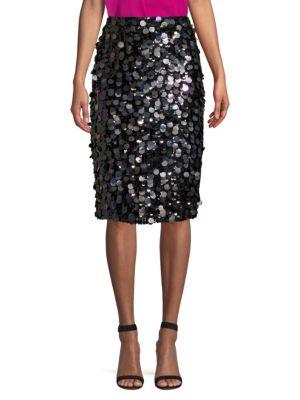 Parker Skirts Multi-Sequin Pencil Skirt