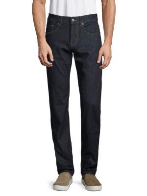 7 For All Mankind Skinny Dark Jeans In Black