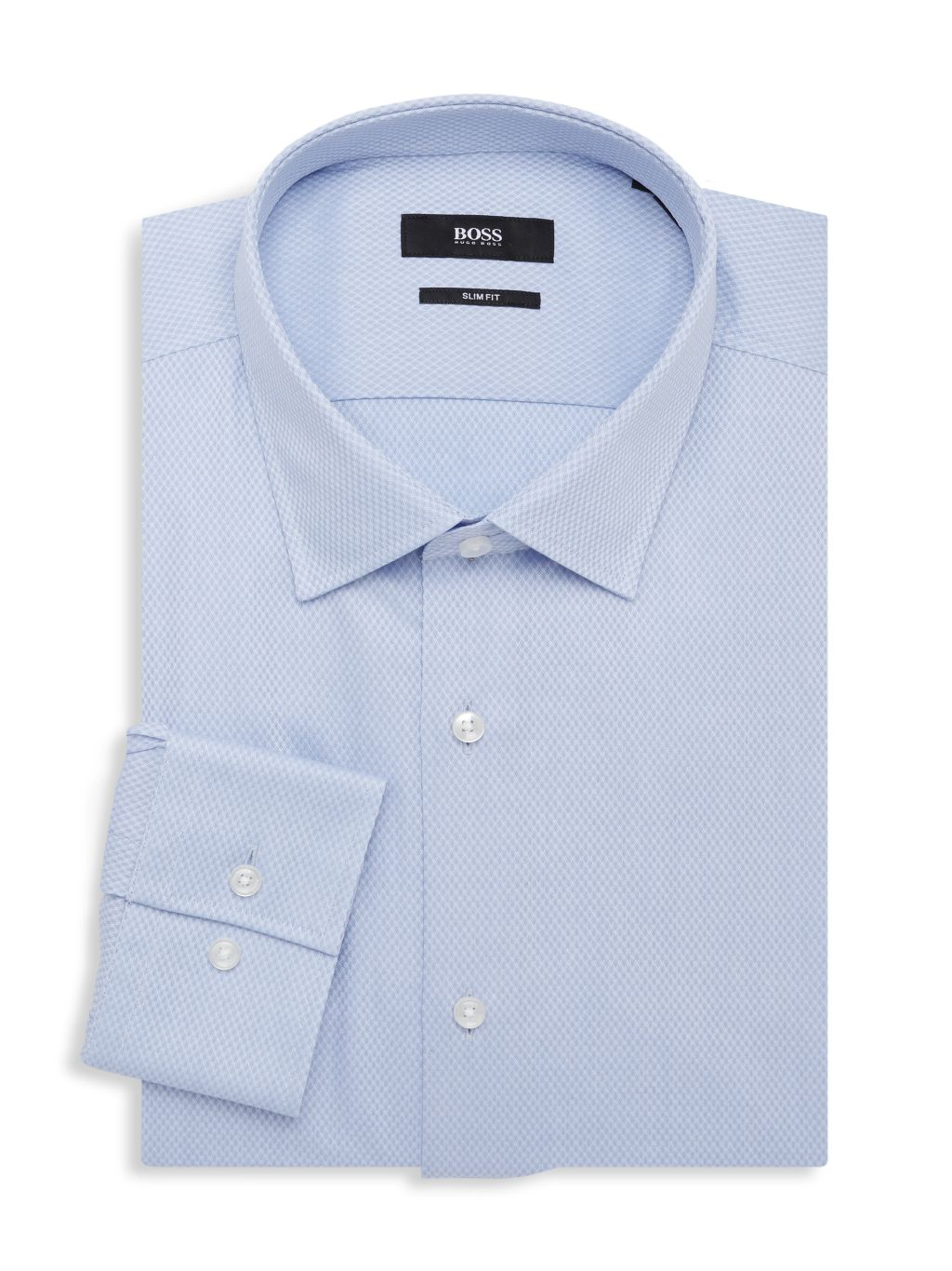 Boss Hugo Boss Jenno Slim-Fit Textured Dress Shirt