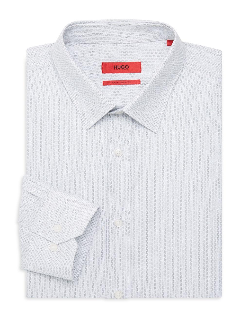 HUGO Elisha Extra Slim-Fit Cotton Shirt