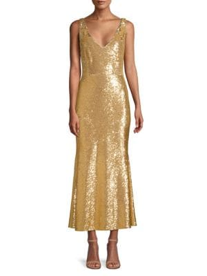 Rachel Zoe Dresses Lola Sequin Flounce Midi Dress