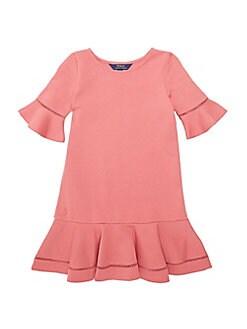 28e6201be QUICK VIEW. Polo Ralph Lauren. Little Girl's Lace Inset Cotton Blend Dress