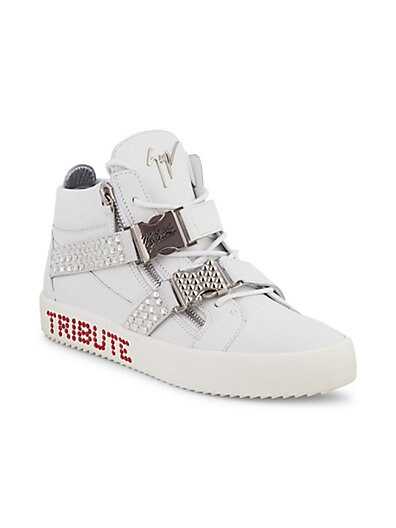 0c0b42c6fe997 ... Giuseppe Zanotti Michael Jackson Tribute Embellished Leather Mid-Top  Sneakers