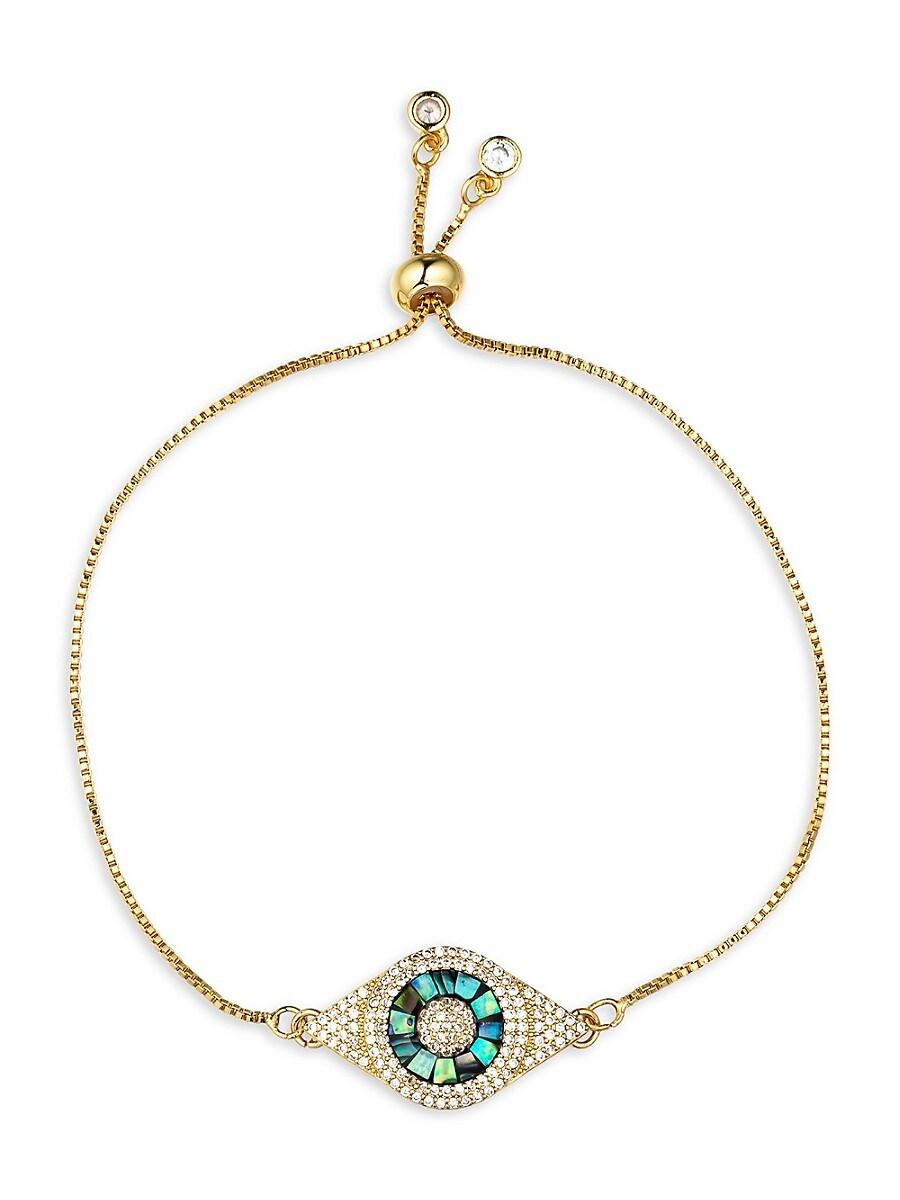 Women's Luxe Mother-Of-Pearl & Crystal Evil Eye Bracelet