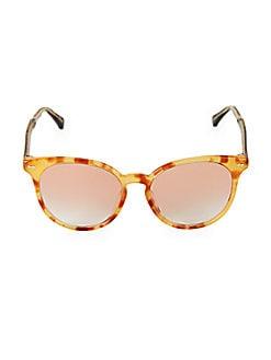 a180e77e2b55 Gucci. 55MM Havana Cat-Eye Sunglasses