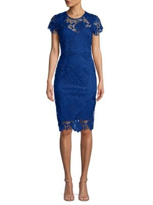 Abs By Allen Schwartz Embroidered Sheath Dress In Egyptian Blue