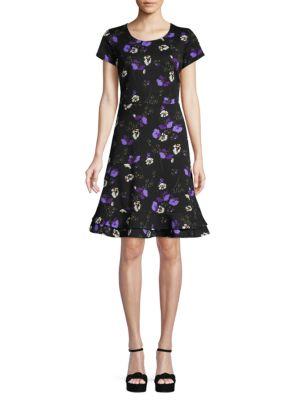 Abs By Allen Schwartz Floral A-Line Dress In Blooms